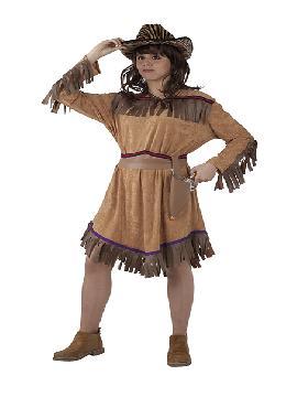 disfraz de vaquera del oeste mujer adulto. Este traje presenta una estética desenfada y moderna, alejada de la clásica imagen de los Cowboys de las películas de cine del Oeste.Este disfraz es ideal para tus fiestas temáticas de disfraces de indios y vaqueros para el oeste para mujer adultos.