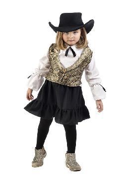 disfraz de vaquera deluxe niña