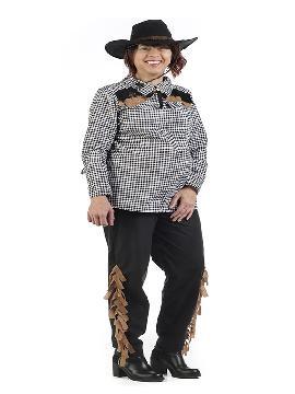 disfraz de vaquera para embarazadas mujer