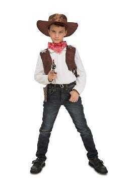 disfraz de vaquero con accesorios para niño