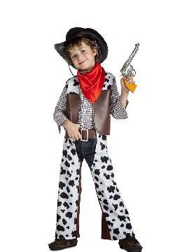 disfraz de vaquero cowboy niño es ideal para las mejores fiestas del oeste con tus amigos o con la familia. Si teneís una fiesta temática de indios o vaqueros en el lejano oeste este es tu disfraz original con tus pistolas para los carnavales o cualquier fiesta temática infantil.