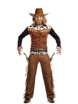 disfraz de vaquero texas hombre. Donde podras ir con tu pareja de vaqueros o con vuestro grupo de amigos en vuestras fiestas del oeste con los indios y vaqueros adultos. Sera de lo más ideal para disparar en los carnavales, halloween, despedidas de solteras o cualquier fiesta temática de indios y vaqueros que tengais adulto