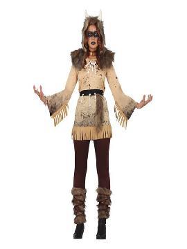 disfraz de vikinga chaman de mujer