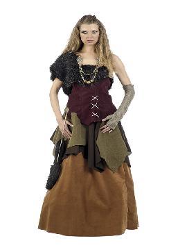 disfraz de vikinga deluxe para mujer