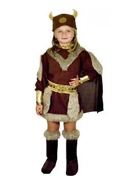 disfraz de vikinga guerrera para niña