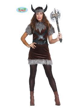 disfraz de vikinga nordica mujer