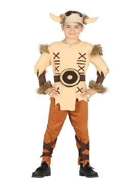 disfraz de vikingo con cuernos para niño