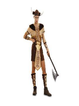 disfraz de vikingo lujo para hombre adulto. Compra tu disfraz barato adulto para tu grupo. Este traje es ideal para tus fiestas temáticas de barbaros y vikingos guerreros.