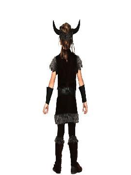 disfraz de vikingo marron para niños