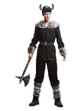 disfraz de vikingo negro para hombre