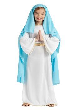 disfraz de virgen maria niña