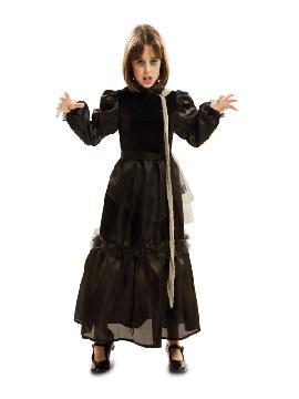 disfraz de viuda cadaver para niña