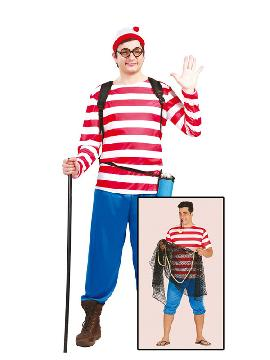 disfraz de wally excursionista para hombre