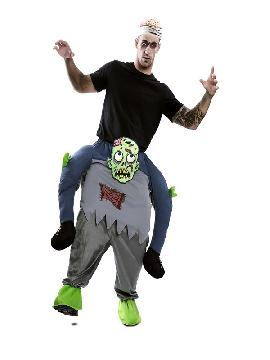 disfraz de zombie a hombros para hombre