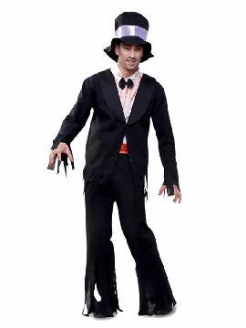 disfraz de zombie con esmoquin hombre