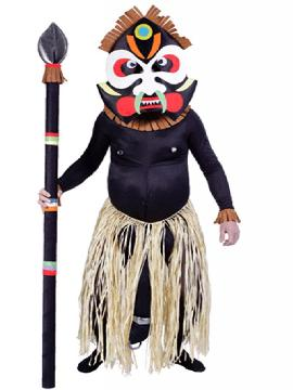 disfraz de zulu africano adulto