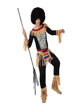 disfraz de zulu para hombre