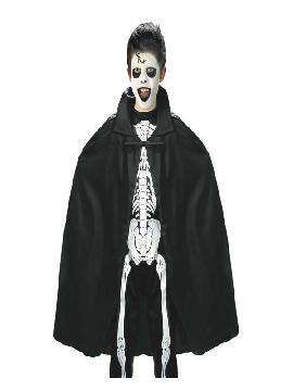 disfraz de capa negra 90 cm infantil