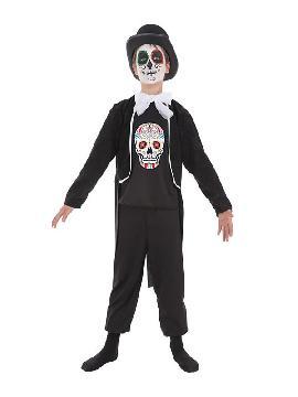 disfraz dia de los muertos para niño
