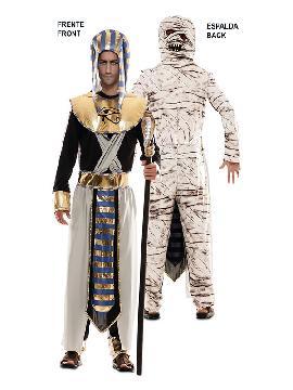 disfraz doble egipcio y momia para adulto
