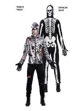 disfraz doble zombie y esqueleto adulto