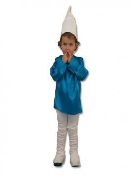 disfraz de duende azul infantil. Este comodísimo traje de pitufo es perfecto para carnavales, espectáculos, cumpleaños y también para las fiesta de los colegios como fin de curso. Este disfraz es ideal para tus fiestas temáticas de pitufos y cuentos para infantil