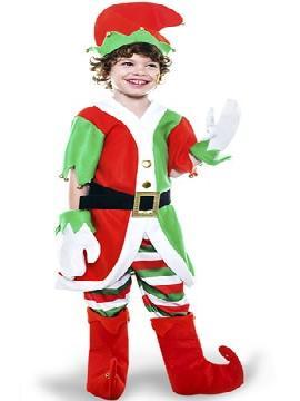 disfraz elfo con chaqueta niño