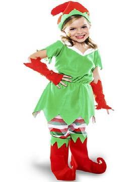 disfraz de elfo picos niña infantil. Le quedará ideal a los niños que quieren ayudar a Papá Noel, guiando el trineo y cuidando los renos, en los festivales de navidad, fiestas temáticas y carnaval.