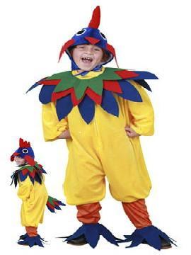 disfraz gallo amarillo niño infantil