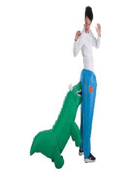 disfraz hinchable de cocodrilo mordiendo culo adultos