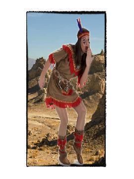 disfraz india apache mujer adulto. Este comodísimo traje es perfecto para forma parte de una tribu en carnavales.Este disfraz es ideal para tus fiestas temáticas de disfraces de indios adultos
