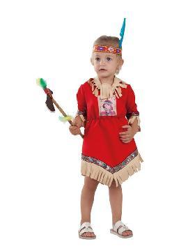 disfraz de india nube roja para bebe