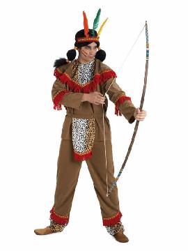 disfraz de indio apache hombre adulto. Este comodísimo traje es perfecto para forma parte de una tribu en carnavales.Este disfraz es ideal para tus fiestas temáticas de disfraces de indios adulto