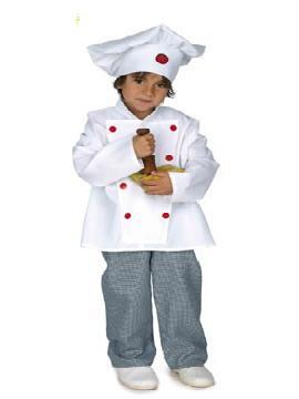 disfraz cocinero infantil. hará que las más pequeñas de la casa sientan curiosidad por la cocina y podrás transformarla en ganadora de máster chef junior es sus fiestas tematicas. Este disfraz es ideal para tus fiestas temáticas de disfraces de uniformes de trabajo y deporte para niños infantiles.