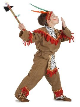 Disfraz infantil indio lujo. Este comodísimo traje es perfecto para forma parte de una tribu en carnavales.Este disfraz es ideal para tus fiestas temáticas de disfraces de indios y vaqueros para el oeste para niños infantiles.