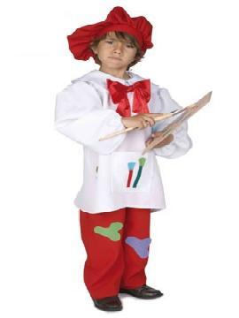 disfraz infantil pintor. Te convertirás en todo un artista del pincel. con este disfraz pintor infantil harás Paisajes, objetos, flores,y mucho arte.Este disfraz es ideal para tus fiestas temáticas de disfraces de uniforme de trabajo y deportes para niños infantiles.