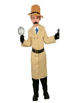 disfraz de inspector gacher niño infantil. conseguirá que te muevas con sigilo por las fiestas. Mueve tus artilugios y tu lupa en tus fiestas de carnaval y fiestas de fin de curso.