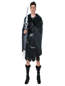 disfraz jons de juego de tronos hombre adulto. Ser el hijo del señor de Invernalia y Guardián del Norte te pasará factura y pasarás a pertenecer a la ejercito de la Noche. Ideal para imitar al personaje de Jon Nieve de la serie de televisión de los 7 reinos. Busca a tu lobo albino en fiestas temáticas de los personajes de juego de tronos deluxe.