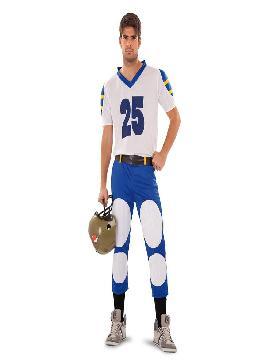 disfraz jugador rugby azul para hombre