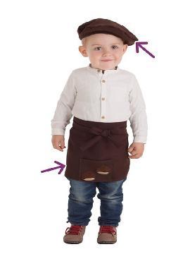 disfraz kit de castañero para bebe