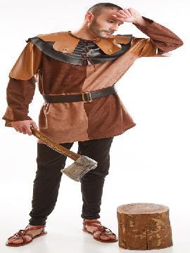 disfraz lenador medieval hombre adulto