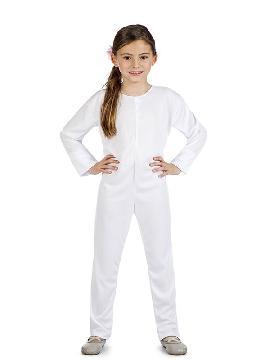 disfraz maillot o mono color blanco infantil