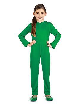 disfraz maillot o mono color verde infantil