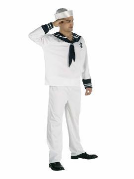 disfraz marinero blanco hombre. Es ideal para tus fiestas tematicas o para buscar a tu marinera sexy en tus despedidas de soltero. Este disfraz es ideal para tus fiestas temáticas de disfraces de uniforme de trabajo,disfraces de marineros y del mar para hombre adultos.