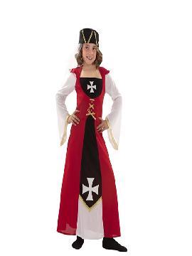 disfraz marquesa de malta niña infantil. Con esta fabuloso te convertirá en un auténtica dama medieval de la Orden de Malta en tus Fiestas temáticas, ferias y mercados medievales. Este disfraz es ideal para tus fiestas temáticas de disfraces época y medievales para la edad media de infantiles