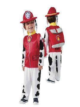 Disfraz Marshall patrulla canina para niño. La Patrulla Canina es un equipo de preciosos cachorros liderado por el incansable Ryder, quien siempre está listo para ayudar en cualquier fiesta de disfraces. Este traje es ideal para tus fiestas temáticas de animales.