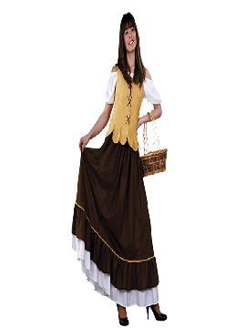 Disfraz de mesonera medieval mujer. Compra tu disfraz barato y representar a una campesina, mesonera.Es ideal para tus ferias y mercados medievales.