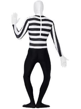 disfraz de morphsuit mimo segunda piel hombre