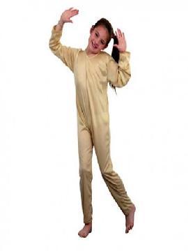 disfraz mono color carne de punto infantil. Al ser un mono entero podrás utilizarla en multitud de ocasiones, para tus disfraces en Fiestas Temáticas y fin de curso.