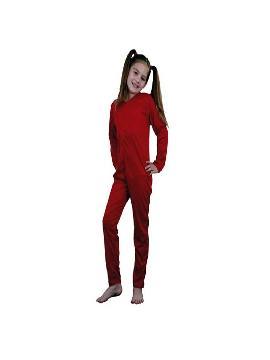 disfraz mono rojo de punto infantil. Al ser un mono entero podrás utilizarla en multitud de ocasiones, para tus disfraces en Fiestas Temáticas y fin de curso.